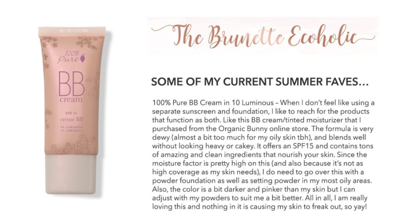 Press Release: The Brunette Ecoholic