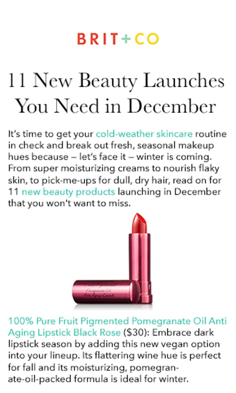 Press Release: 11 New Beauty Launches You Need in December