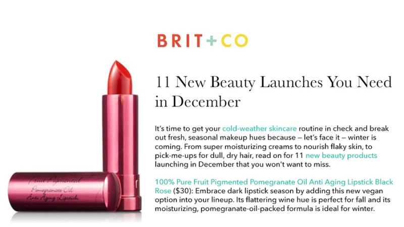 Press Release: Brit + Co