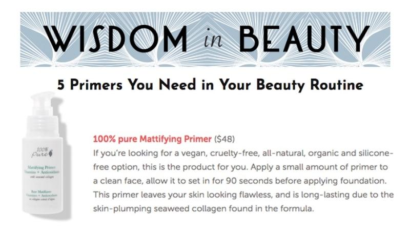 Press Release: Wisdom in Beauty