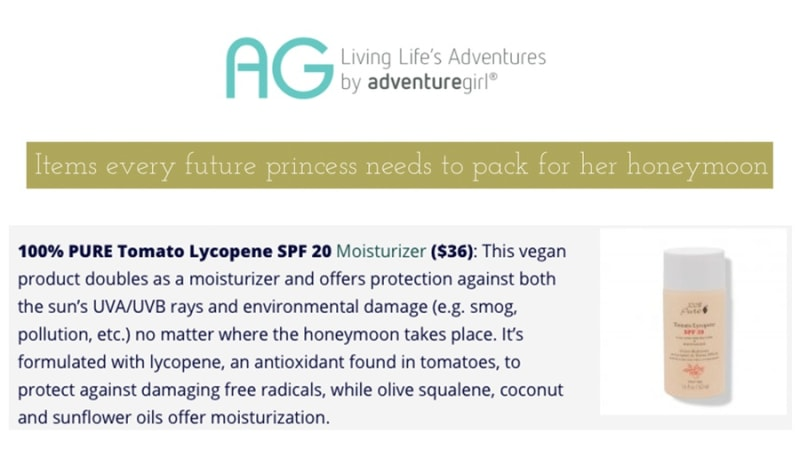 Press Release: Adventure Girl