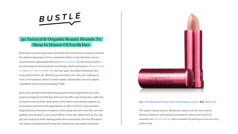 Press Release: Bustle