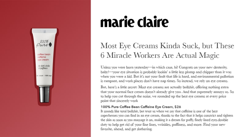 Press Release: MarieClaire.com