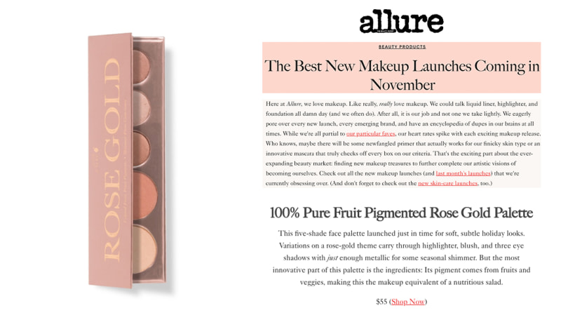 Press Release: Allure.com