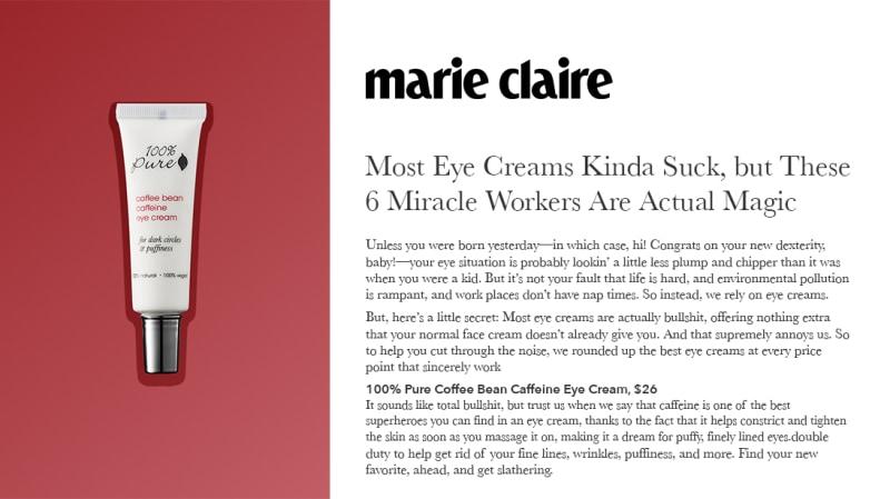 Press Release: MarieClaire.com